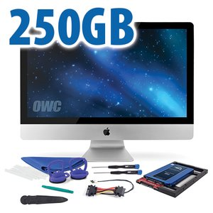 "DIY Kit for 2012 or later 27"" iMac's factory HDD: 250GB OWC Mercury Electra 6G SSD."