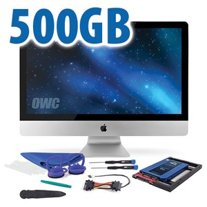 "DIY Kit for 2012 or later 27"" iMac's factory HDD: 500GB OWC Mercury Electra 6G SSD."