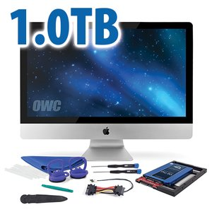 "DIY Kit for all 2012 - Mid 2019 27"" iMac's factory HDD: 1.0TB OWC Mercury Extreme Pro 6G SSD."