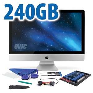 "DIY Kit for all 2012 - Mid 2019 27"" iMac's factory HDD: 240GB OWC Mercury Extreme Pro 6G SSD."