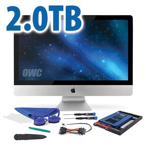 "DIY Kit for 2012 or later 27"" iMac's factory HDD: 2.0TB OWC Mercury Extreme Pro 6G SSD."