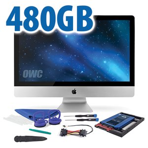 "DIY Kit for 2012 or later 27"" iMac's factory HDD: 480GB OWC Mercury Extreme Pro 6G SSD."