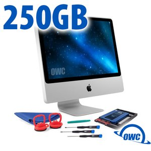 DIY Kit for 2006 - early 2009 iMac's factory HDD: 250GB OWC Mercury Electra 6G SSD.