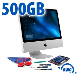 DIY Kit for 2006 - early 2009 iMac's factory HDD: 500GB OWC Mercury Electra 6G SSD.