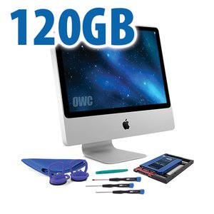 DIY Kit for 2006 - early 2009 iMac's factory HDD: 120GB OWC Mercury Extreme Pro 6G SSD.