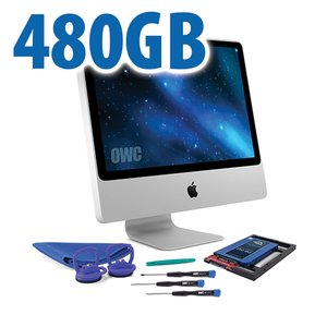 DIY Kit for 2006 - early 2009 iMac's factory HDD: 480GB OWC Mercury Extreme Pro 6G SSD.
