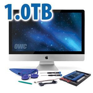 DIY Kit: 1.0TB OWC Mercury Extreme Pro 6G SSD + NewerTech AdaptaDrive + In-line Thermal Sensor.