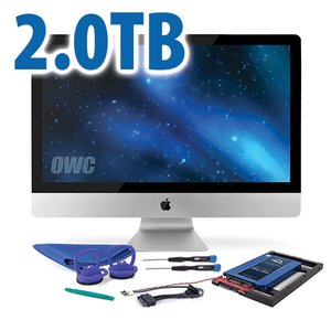 DIY Kit: 2.0TB OWC Mercury Extreme Pro 6G SSD + NewerTech AdaptaDrive + In-line Thermal Sensor.