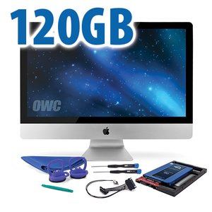 DIY Kit for 2011 iMac's factory HDD: 120GB OWC Mercury Electra 6G SSD.