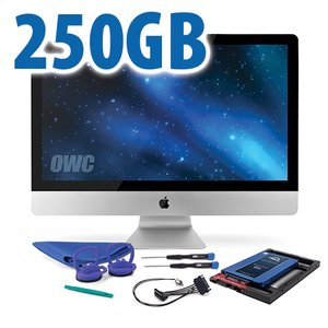 DIY Kit for 2011 iMac's factory HDD: 250GB OWC Mercury Electra 6G SSD.
