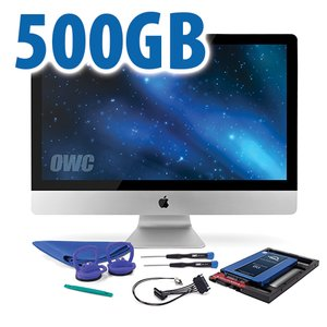 DIY Kit for 2011 iMac's factory HDD: 500GB OWC Mercury Electra 6G SSD.