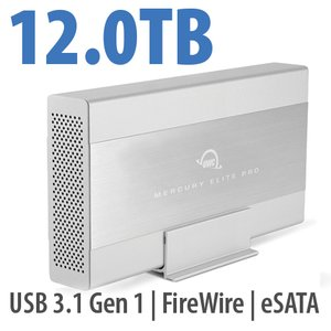 12.0TB OWC Mercury Elite Pro 7200RPM Storage Solution with USB3.1 Gen 1 + eSATA + FW800/400