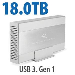 18.0TB OWC Mercury Elite Pro 7200RPM Storage Solution with USB3.1 Gen 1 + eSATA + FW800/400