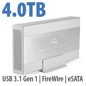 4.0TB OWC Mercury Elite Pro 7200RPM Storage Solution with USB3.1 Gen 1 + eSATA + FW800/400