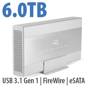 6.0TB OWC Mercury Elite Pro 7200RPM Storage Solution with USB3.1 Gen 1 + eSATA + FW800/400