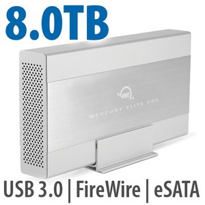 8.0TB OWC Mercury Elite Pro 7200RPM Storage Solution with USB3.1 Gen 1 + eSATA + FW800/400