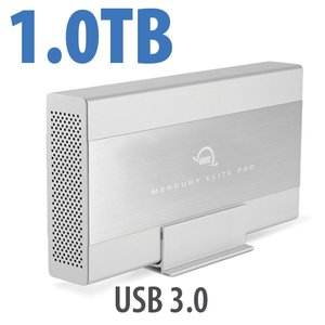 1.0TB OWC Mercury Elite Pro 7200RPM Storage Solution with USB 3.1 Gen 1 +1 Port