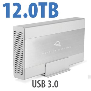 12.0TB OWC Mercury Elite Pro 7200RPM Storage Solution with USB 3.1 Gen 1 +1 Port