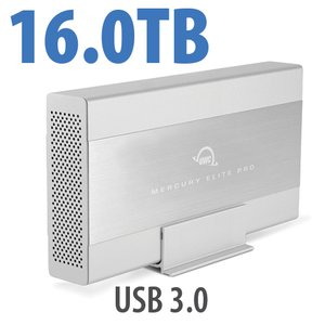 16.0TB OWC Mercury Elite Pro 7200RPM Storage Solution with USB 3.1 Gen 1 +1 Port