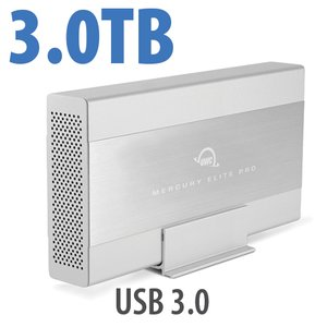 3.0TB OWC Mercury Elite Pro 7200RPM Storage Solution with USB 3.1 Gen 1 +1 Port