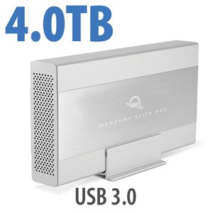 4.0TB OWC Mercury Elite Pro 7200RPM Storage Solution with USB 3.1 Gen 1 +1 Port