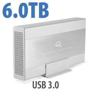 6.0TB OWC Mercury Elite Pro 7200RPM Storage Solution with USB 3.1 Gen 1 +1 Port