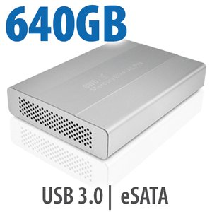 640GB OWC Mercury Elite Pro mini Portable 5400RPM USB 3.0 + eSATA Storage Solution