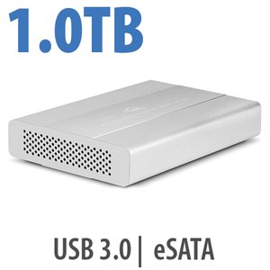 1.0TB OWC Mercury Elite Pro mini Portable 7200RPM USB 3.0 + eSATA Storage Solution