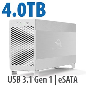 4.0TB OWC Mercury Elite Pro Dual RAID 7200RPM Storage Solution with USB 3.1 Gen 1 + eSATA