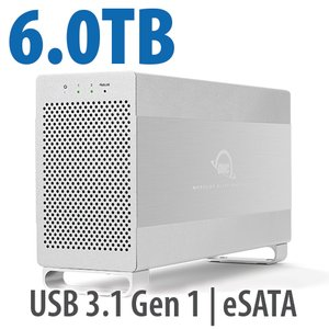 6.0TB OWC Mercury Elite Pro Dual RAID 7200RPM Storage Solution with USB 3.1 Gen 1 + eSATA