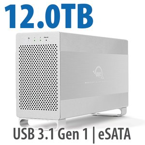 12.0TB OWC Mercury Elite Pro Dual RAID 7200RPM Storage Solution with USB 3.1 Gen 1 + eSATA
