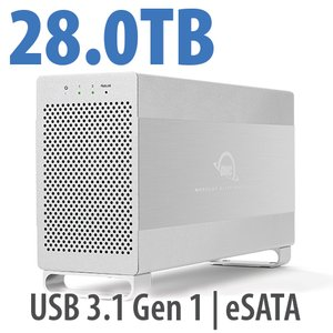 28.0TB OWC Mercury Elite Pro Dual RAID 7200RPM Storage Solution with USB 3.1 Gen 1 + eSATA