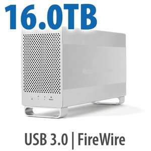 16.0TB OWC Mercury Elite Pro Dual RAID 7200RPM Storage Solution with USB 3.1 Gen 1 + FireWire 800
