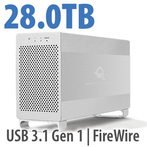 28.0TB OWC Mercury Elite Pro Dual RAID 7200RPM Storage Solution with USB 3.1 Gen 1 + FireWire 800