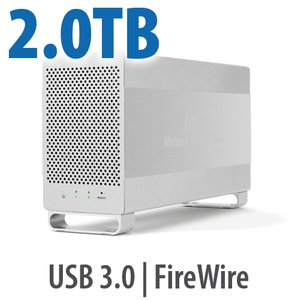 2.0TB OWC Mercury Elite Pro Dual RAID 7200RPM Storage Solution with USB 3.1 Gen 1 + FireWire 800