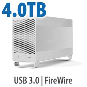 4.0TB OWC Mercury Elite Pro Dual RAID 7200RPM Storage Solution with USB 3.1 Gen 1 + FireWire 800