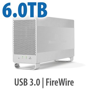 6.0TB OWC Mercury Elite Pro Dual RAID 7200RPM Storage Solution with USB 3.1 Gen 1 + FireWire 800