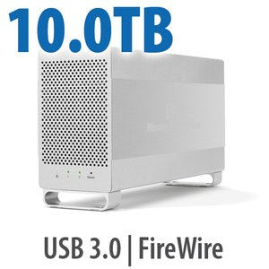 10.0TB OWC Mercury Elite Pro Dual RAID 7200RPM Storage Solution with USB 3.1 Gen 1 + FireWire 800