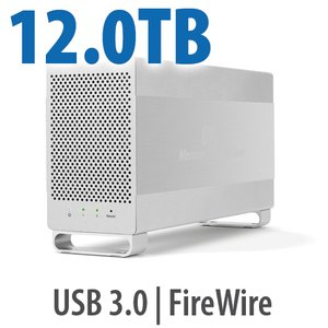 12.0TB OWC Mercury Elite Pro Dual RAID 7200RPM Storage Solution with USB 3.1 Gen 1 + FireWire 800