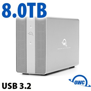 8TB OWC Mercury Elite Pro Dual SSD RAID Storage Solution with USB (10Gb/s) + 3-Port Hub