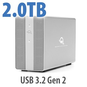 2TB OWC Mercury Elite Pro Dual RAID Storage Solution with USB (10Gb/s) + 3-Port Hub