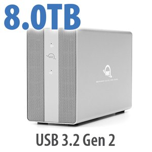 8TB OWC Mercury Elite Pro Dual RAID Storage Solution with USB (10Gb/s) + 3-Port Hub