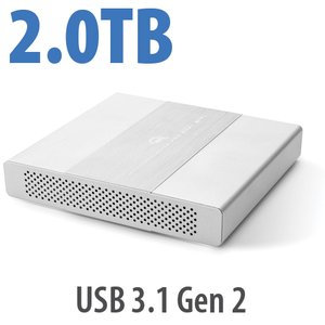 2.0TB OWC Mercury Elite Pro Dual mini Portable, Bus-Powered High-Performance USB-C RAID SSD External Storage Solution