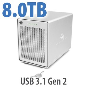 8TB OWC Mercury Elite Pro Quad RAID Ready 4-Drive HDD Storage Solution