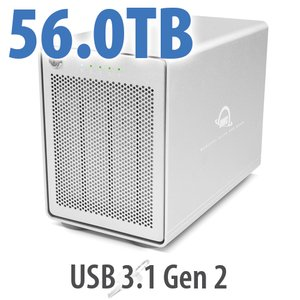 56TB OWC Mercury Elite Pro Quad RAID Ready Four-Drive HDD External Storage Solution