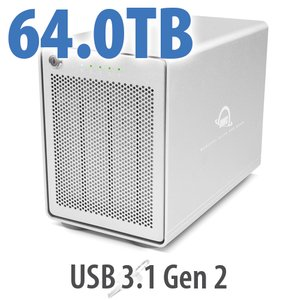 64TB OWC Mercury Elite Pro Quad RAID Ready 4-Drive HDD Storage Solution