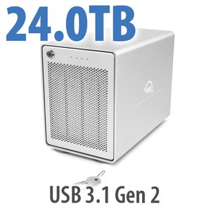 24TB OWC Mercury Elite Pro Quad RAID 5 4-Drive HDD Storage Solution
