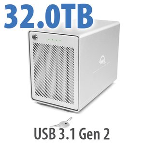 32TB OWC Mercury Elite Pro Quad RAID 5 4-Drive HDD Storage Solution