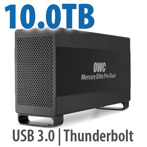 10.0TB Mercury Elite Pro Dual USB 3.0 & Thunderbolt RAID Storage Solution - 7200RPM HDDs