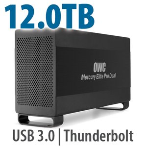 12.0TB Mercury Elite Pro Dual USB 3.0 & Thunderbolt RAID Storage Solution - 7200RPM HDDs